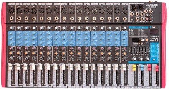 Mesa de Som Analógica Soundvoice MS162EUX 16 Canais