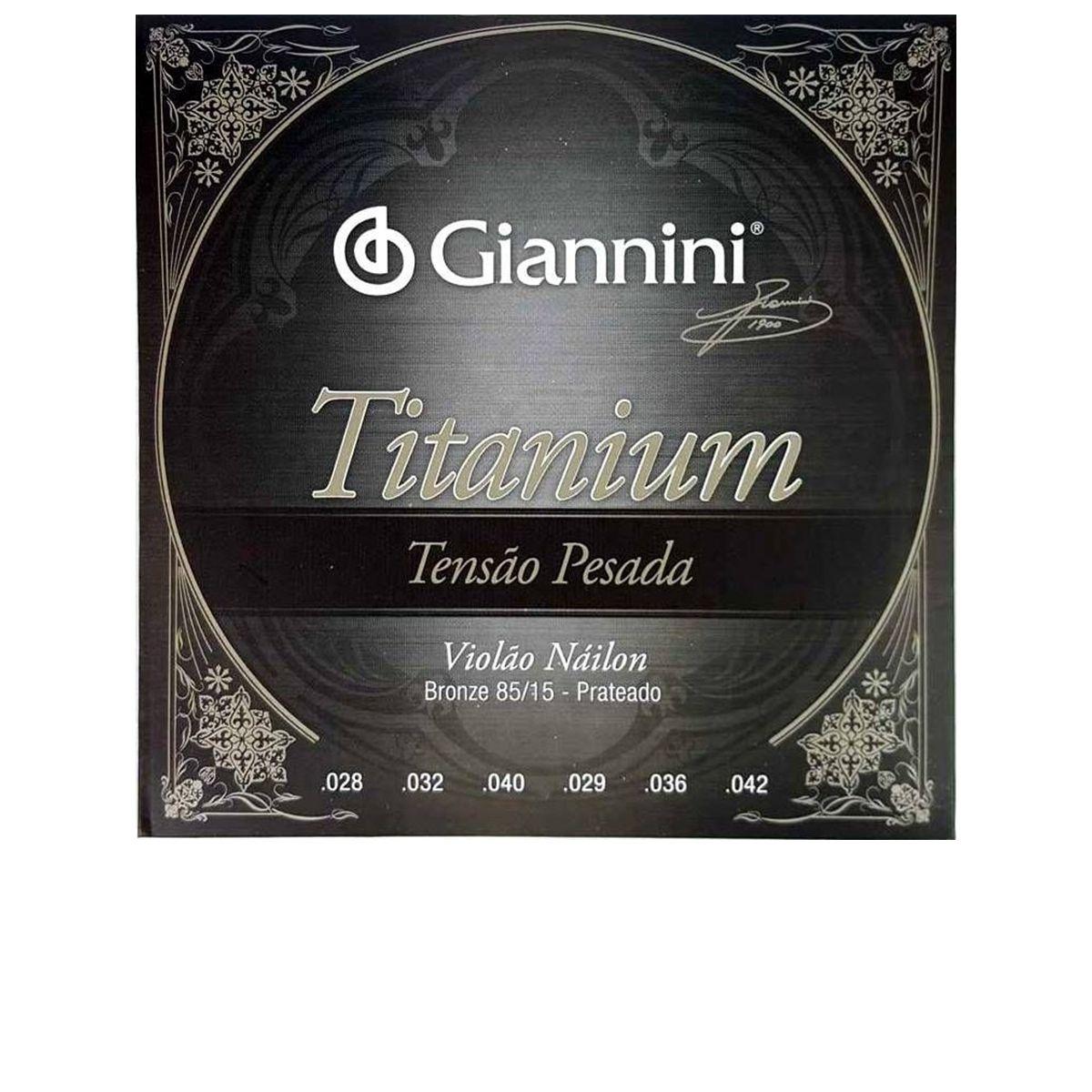 Encordoamento de Violão Nylon Giannini Titanium