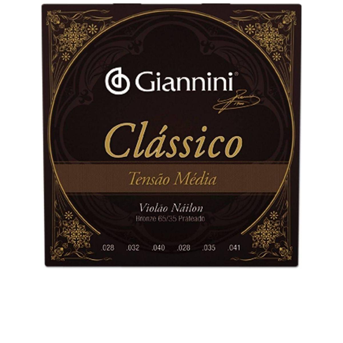 Encordoamento de Violão Nylon Giannini Clássico