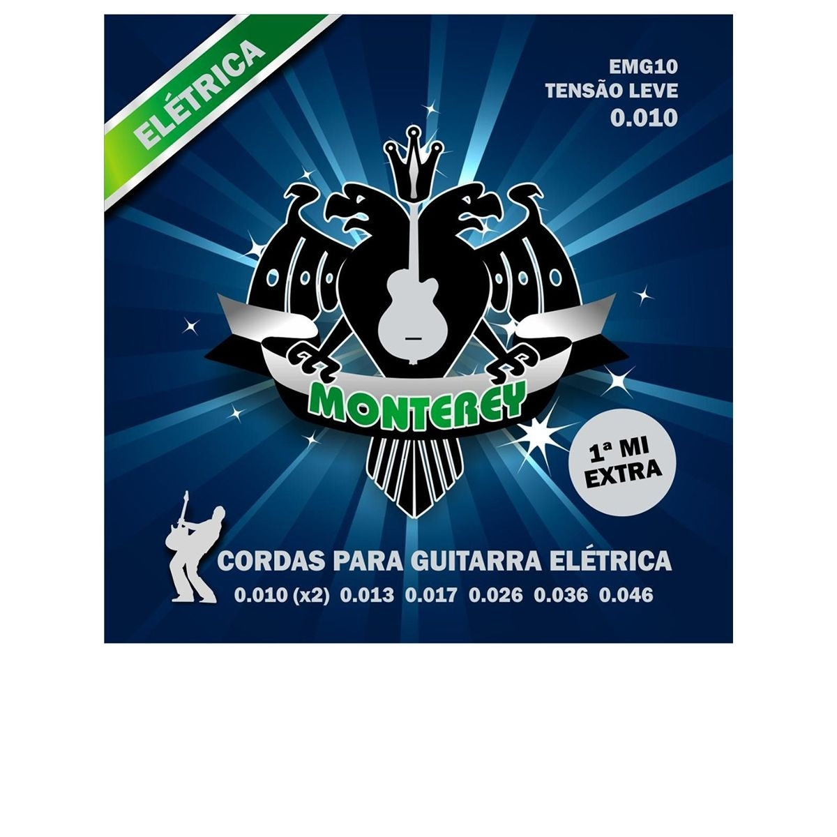 Encordoamento de Guitarra Monterey 0.10