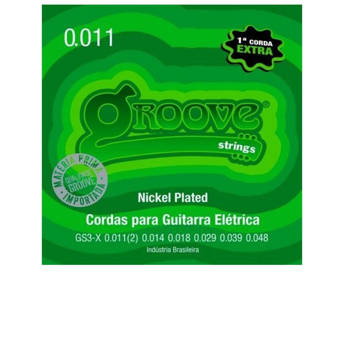 Encordoamento de Guitarra Groove 0.11