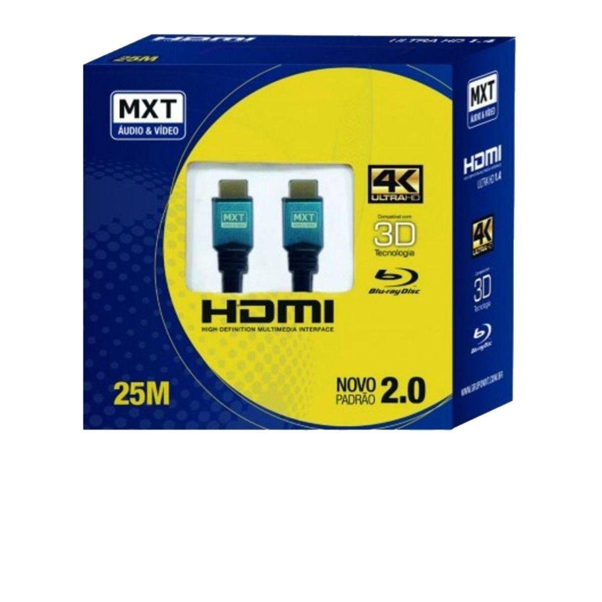 Cabo Hdmi MXT 4K 25 Metros