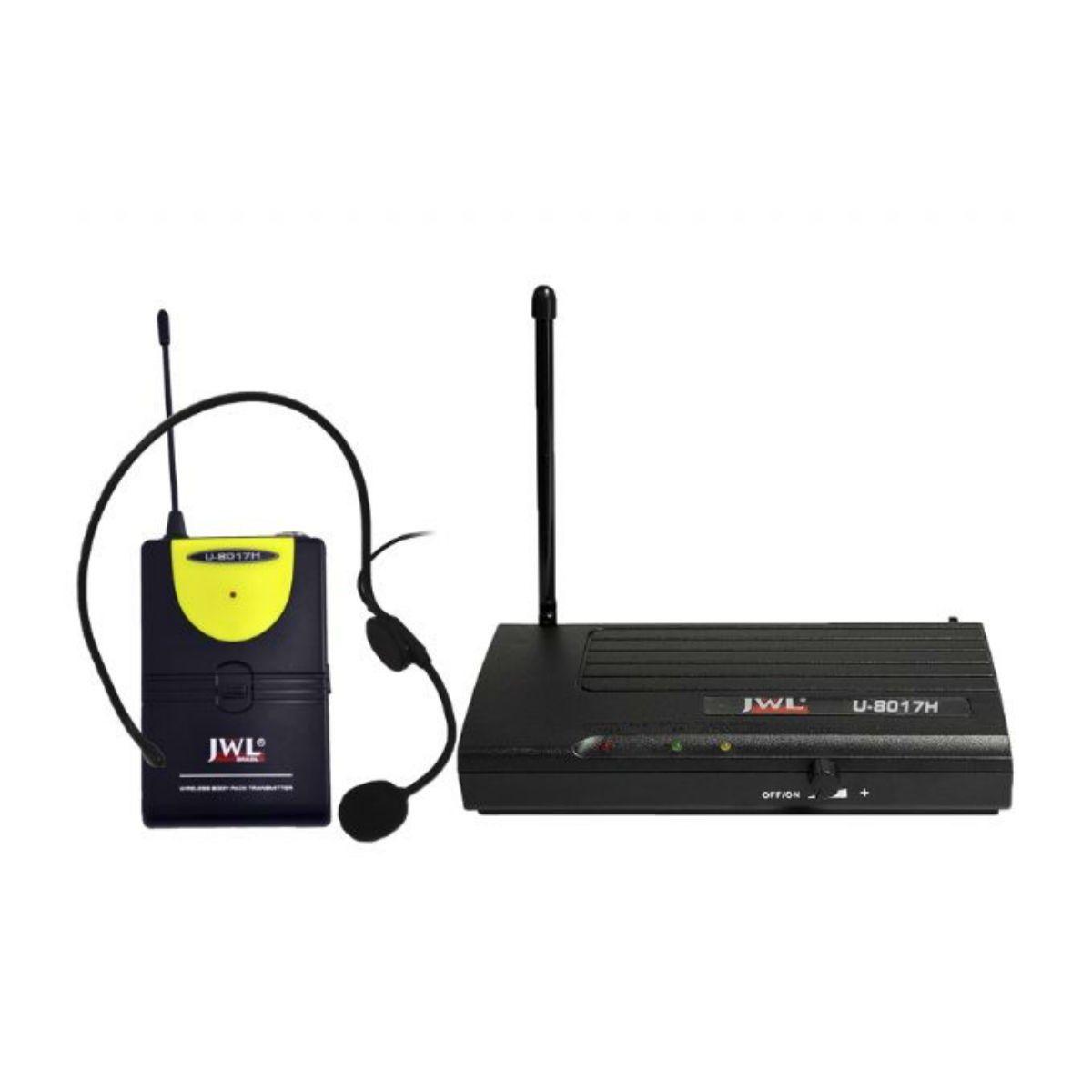 Microfone Sem Fio Headset JWL Uhf U-8017H