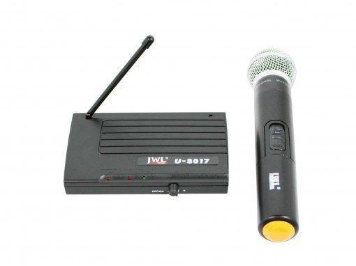 Microfone Sem Fio de Mão JWL Uhf U-8017