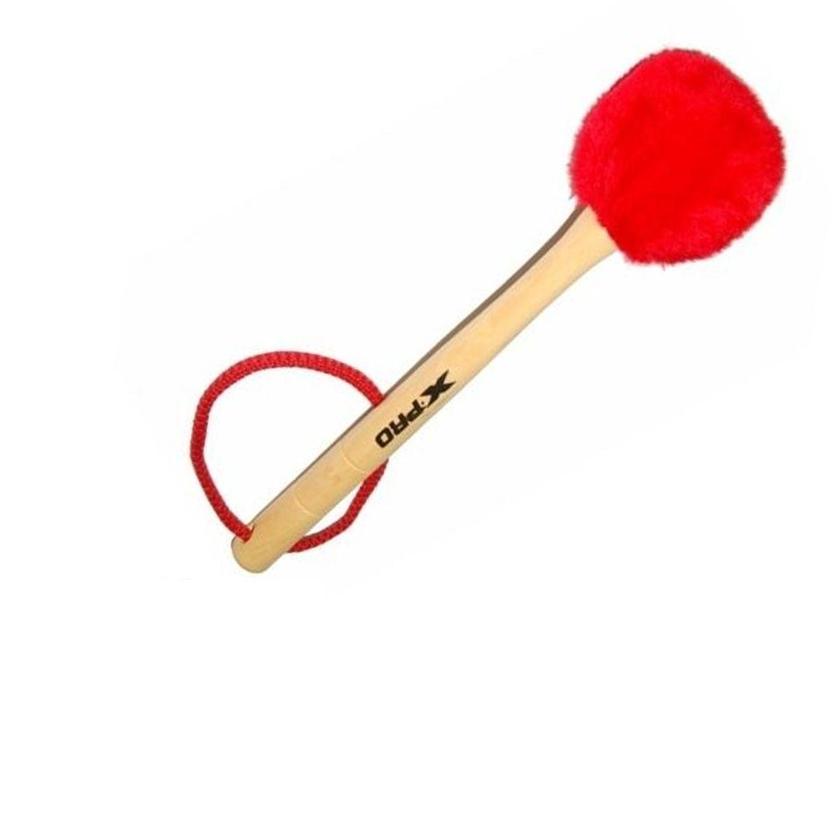 Baqueta de Pelúcia para Bumbo XPRO Vermelha