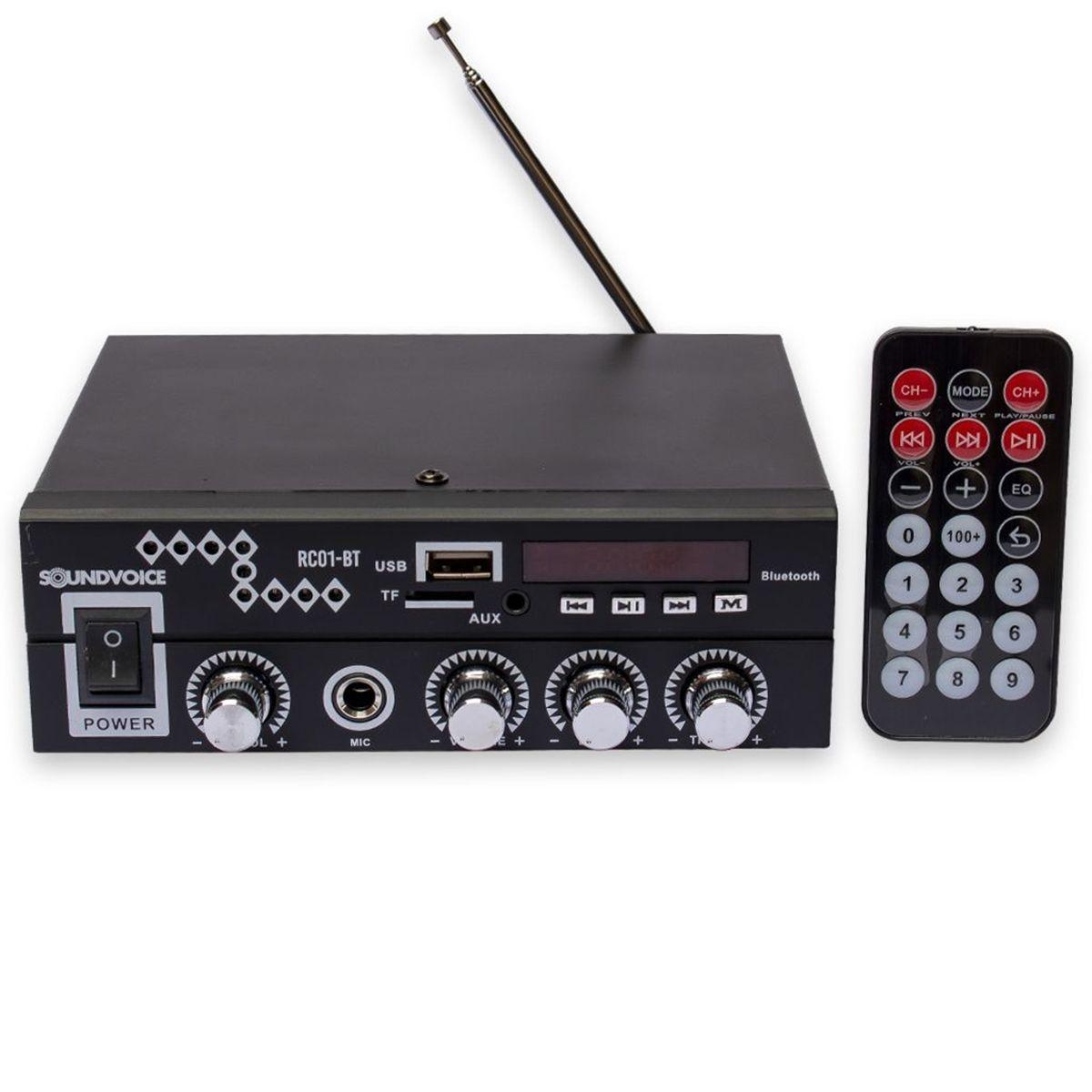 Amplificador Compacto SoundVoice RC01-BT