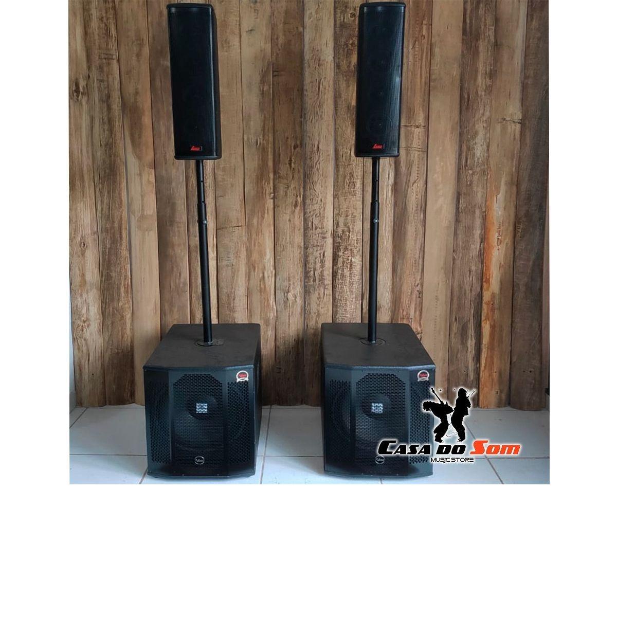 Kit Amplificado Line Vertical + Sub 15
