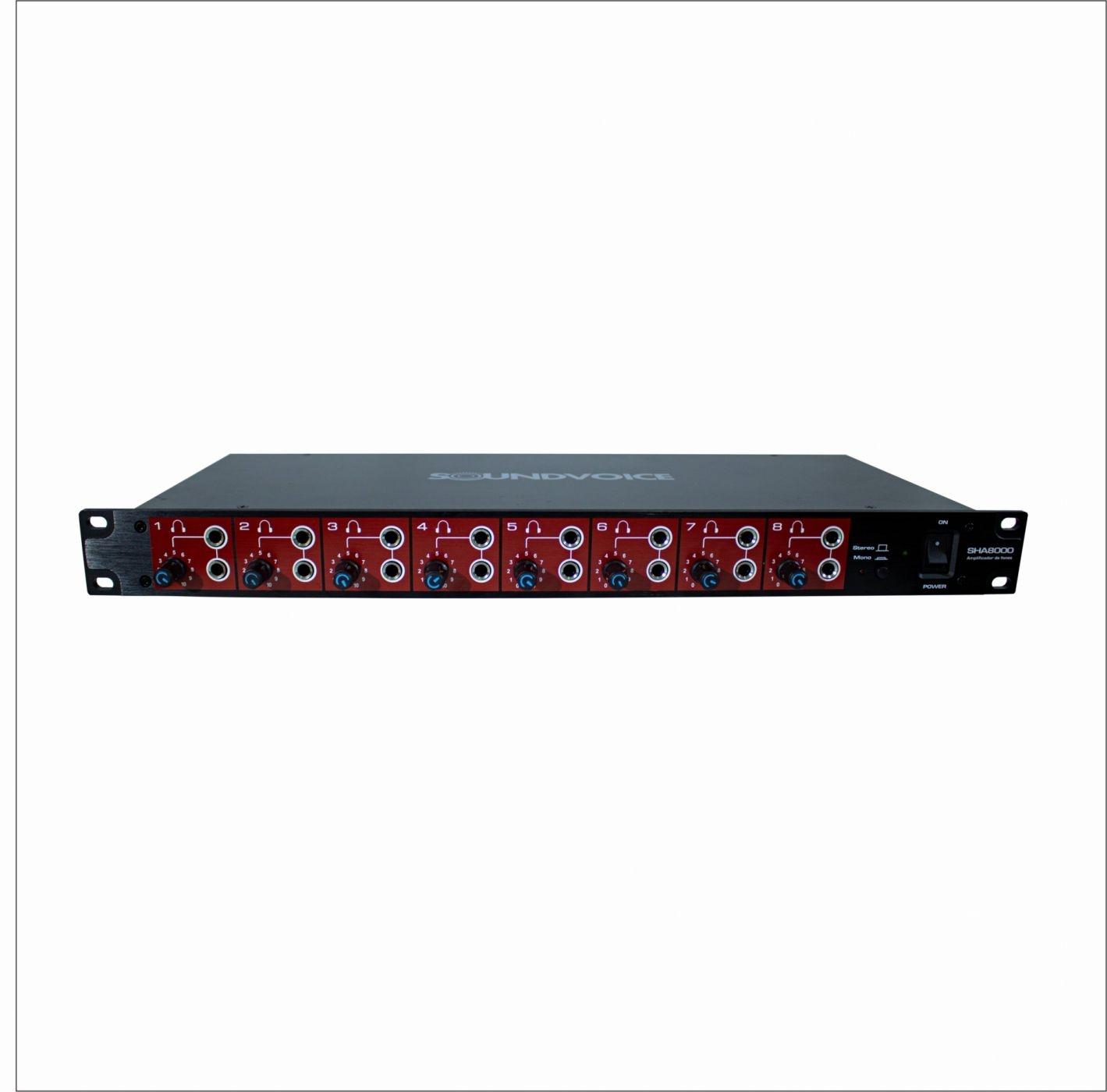 Amplificador de Fones de Ouvido Soundvoice SHA8000